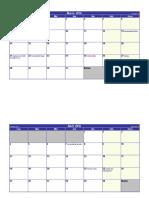 Calendario marzo abril mayo junio