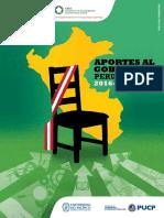 Aporte al Gobierno Peruano 2016