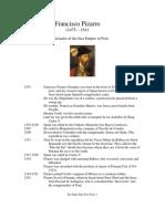 D - Francisco Pizarro Biography