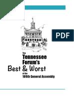 TN Forum Names Best And Worst Legislators Of 2016