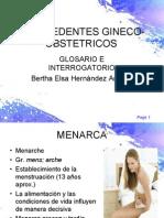 ANTECEDENTES GINECO-OBSTETRICOS glosario e interrogatorio
