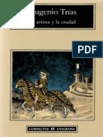 LIBRO TRIAS Eugenio El Artista y La Ciudad