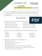 1º ESO - 1º Evaluación