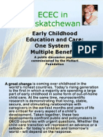 Integrating early learning and care in Saskatchewan