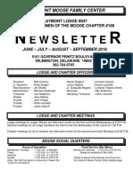 Moose News June - Sept 2016