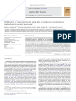 Modification of Clay Properties by Aging