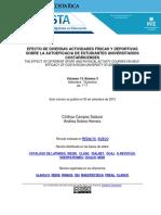 Efectos Diversas Actividades Fisicas Deportivas Sobre Autoeficacia Estudiantes Universitarios Costarricenses Campos Solera