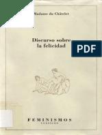 Chatelet Madame Du - Discurso Sobre La Felicidad - Correspondencia