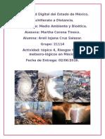 21114 Topico 4 Riesgos Hidrometeorologicos en México Areli Cruz Salazar MYB