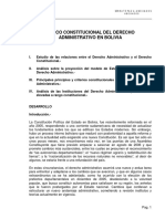D - Marco Constitucional del Derecho Administrativo en Bolivia