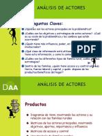 DIAGNOSTICO, Análisis de Actores