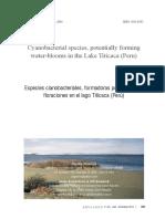 Especies cianobacteriales, formadoras potenciales de floraciones en el lago Titicaca (Perú)