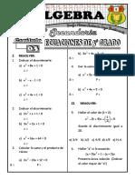 eciuaciones de segundo gradoS - 3° (S)
