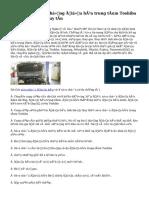 Sửa chữa hệ thống điều hòa trung tâm Toshiba chuyên nghiệp uy tín
