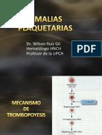 Anomalías plaquetarias