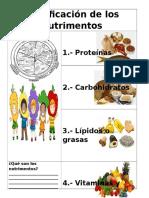 Clasificación de Los Nutrimentos