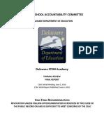 DE STEM Academy CSAC Final Meeting Report