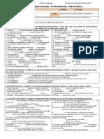 3M PSU 101 Guía 1. Preposiciones. Pronombres. Adverbios