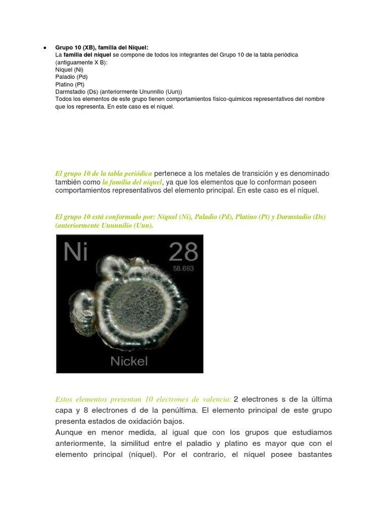 Grupo 10 tabla periodica elementos urtaz Images