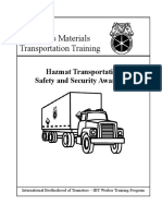 Hazmat Transportation & Security Awareness Training