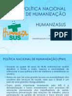 Política Nacional de Humanização