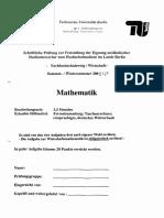 FP WS 08-09 Mathematik Fachhochschulzweig Wirtschaft