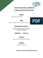 UNIDAD 1. DIODOS DE UNIÓN Y TRANSISTORES DE UNIÓN BIPOLAR
