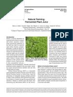 Natural Farming - Fermented Plant Juice