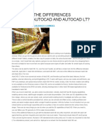 Differences Between Autocad and Autocad LT