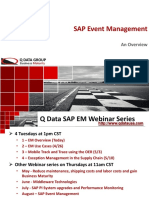 SAP Event Management Overview