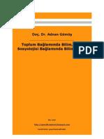 9901676 Toplum Balamnda Bilim Bilgi Sosyolojisi Balamnda Bilim Tarihi
