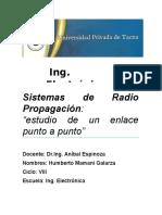 Estudio Del Radio Enlace- Sistemas de Radio Propagacion
