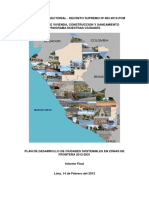 Plan de Desarrollo de Ciudades Sostenibles en Zonas de Frontera