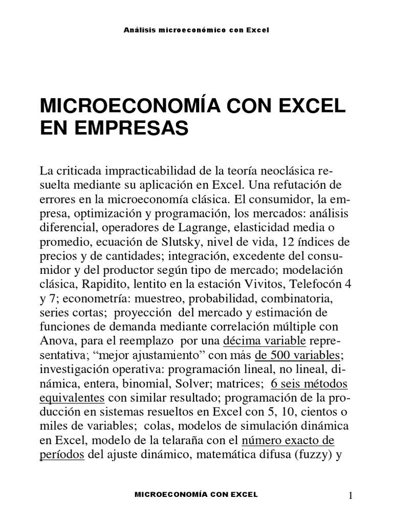 micro econom iacon excel