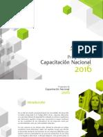 Programa Capacitación 2016