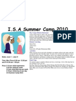 Islamic Society of Augusta 2010 Summer Camp Flyer