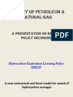 HELP -Recent Policy Presentation by Petroleum Ministry Mar-16