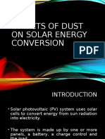 Effects of dust on solar energy conversion
