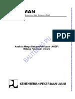 Analisa Harga Satuan Pekerjaan Ahsp Bidang Pekerjaan Umum 2013