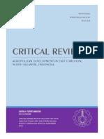Critical Review Jurnal Perencanaan Wilayah (Konsep Agropolitan di Tomohon Timur)