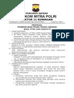 Proposal Posko Mudik 2013 Kab Kuningan