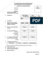 Faculty Application Form