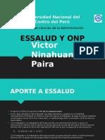 Aportaciones a Onp y Essalud