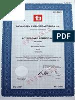 Thomassen & Drijver-Verblifa N.V. - Aandeel