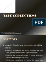 Lecture 4 Tape Corrections