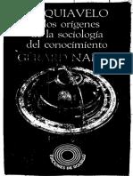 Namer, Gerard., Maquiavelo o los orígenes de la sociología