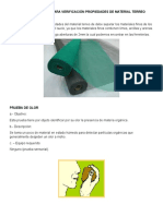 Ensayos de Campo Para Verificación Propiedades de Material Terreo