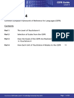 Touchstone Level4 Cefr Correlations Guide