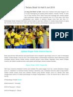 9 Juni Brasil vs HaPrediksi Terbaru Brasil Vs Haiti 9 Juni 2016iti