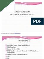 Statistik Dasar Pada Validasi Metode